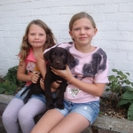 Cooper with Isabel and Bethany