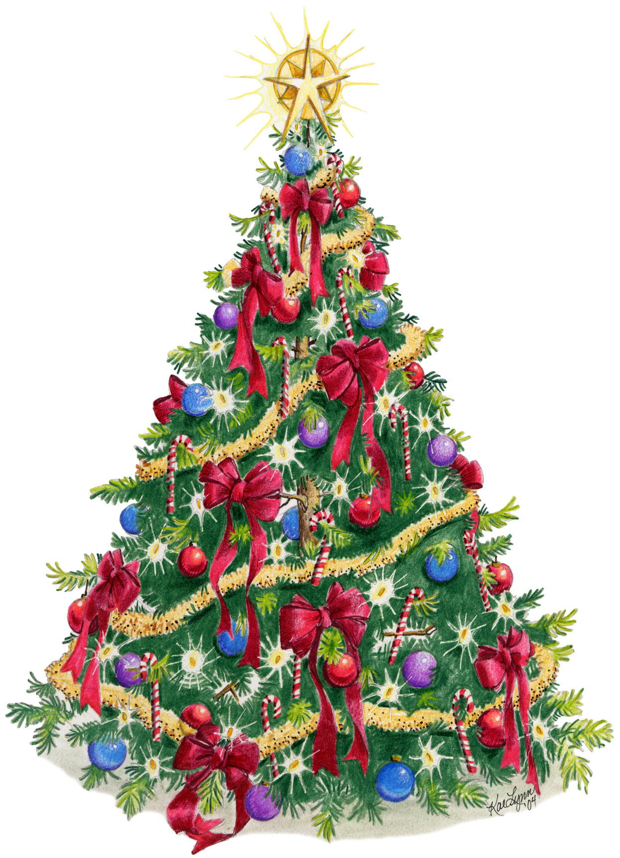 Top  Decorated Christmasa Tree